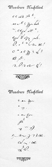 gabelsberger shorthand