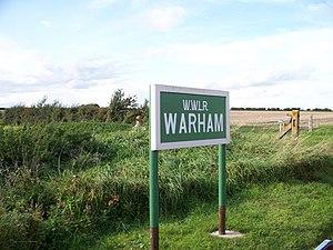 Warham railway station - Image: Warham Station