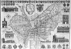 Warren's map of Bury St Edmunds Suffolk