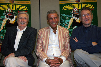 Forbidden Planet - Warren Stevens (Doc), Richard Anderson (Chief), and Earl Holliman (Cook) at San Diego's Comic-Con International, July 2006.