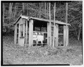 Wash house, east elevation (after August 1993) - Trump-Lilly Farm, Hinton, Summers County, WV HABS WVA,45-HINT.V,1-22.tif