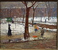Washington Square, Winter, by William James Glackens, 1910, oil on canvas - New Britain Museum of American Art - DSC09617.JPG