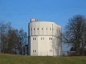 Quierschied - Image: Wasserturm Göttelborn ohne Leitungen