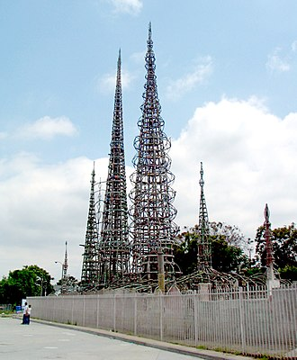 Watts, Los Angeles - Watts' most famous landmark, the Watts Towers created by Simon Rodia