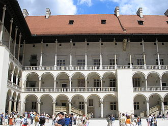 Renaissance in Poland - Wawel Castle's courtyard exemplifies first period of the Polish Renaissance