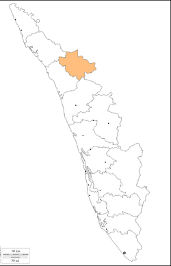 Location in the Kerala
