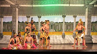 Culture of Indonesia - Pandava and Krishna in an act of the wayang wong performance.