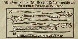 Weapons Swiss peasant war 1653