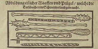 Swiss peasant war of 1653 - Some of the weapons used by the peasants.