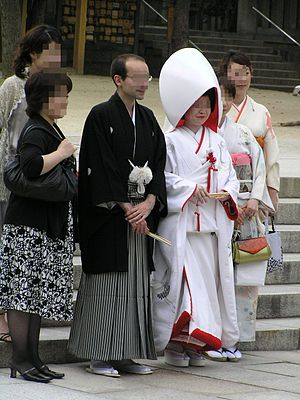 Shinto wedding - A Shinto wedding ceremony.