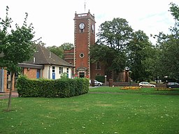 Wednesfield Library and Church - geograph.org.uk - 232331.jpg