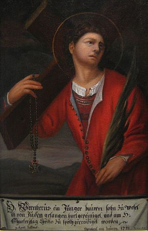 Blood libel - Painting of Werner of Oberwesel as a martyr
