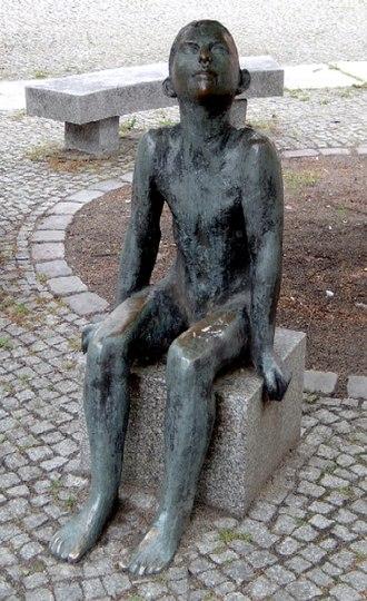 """Sitting - Sitzender Junge (""""Sitting boy"""") by Werner Stötzer, 1956"""