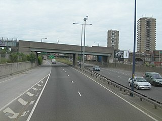 West Cross Route dual carriageway section of the A3220 route in central London