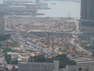 Guangzhou–Shenzhen–Hong Kong Express Rail Link - West Kowloon Terminus construction site
