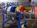 Westinghouse J46 on display at Wings Over Rockies Museum.JPG