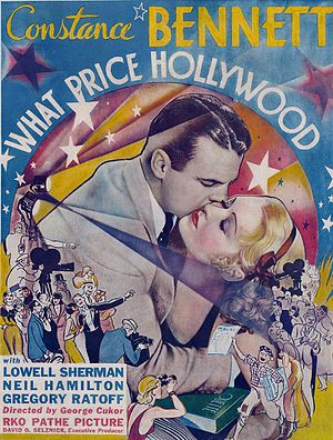 What Price Hollywood? - Theater window card