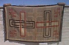 20世紀初頭のナバホ族の織物
