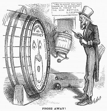 Harper's Weekly cartoon on Bristow's Whiskey Ring investigation Whiskeyring.jpg