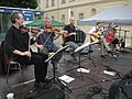 Wiener Tafel 20100618 256 Extremschrammeln (from left) Manfred Kammerhofer, Bernie Mallinger, Marko Živadinović, Roland Neuwirth, Doris Windhager.jpg