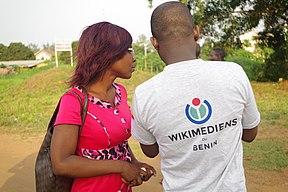 Wikimédiens au photowalk Wiki loves africa 2019 au Bénin.jpg