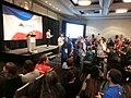 Wikimania 2017 by Deryck day 3 - 06 closing ceremony - how many Wikimanias.jpg