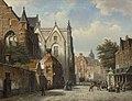 Willem koekkoek a dutch town on a summers day.jpg