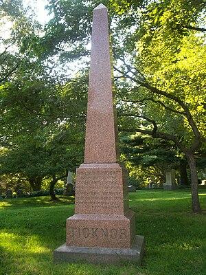 William Ticknor - Grave of William Ticknor at Mount Auburn Cemetery in Cambridge, Massachusetts