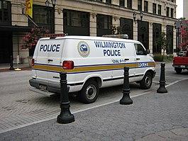 Wilmington, Delaware police van
