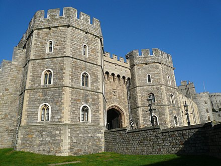 The Henry VIII gateway in the Lower Ward Windsor Castle Henry VIII Gateway.jpg