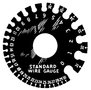 Standard wire gauge imperial unit for wire diameters, as defined in British Standard 3737