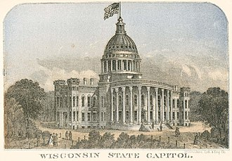 Wisconsin State Capitol - State Capitol (1863 engraving)