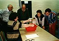 Wolfgang Klafki, Ueli Aeschlimann und Hans Christoph Berg beim Lehrstueck Pascals Barometer (Beate E Noelle).jpg