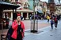 Woman on phone, Shanghai Disneyland Park.jpg