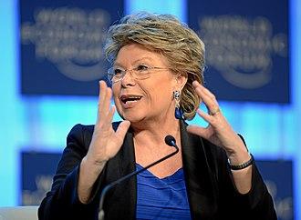 Viviane Reding - Reding during the WEF 2013