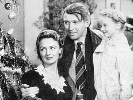 Donna Reed, James Stewart en Karolyn Grimes