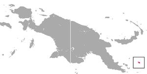 Woodlark cuscus - Image: Woodlark Cuscus area