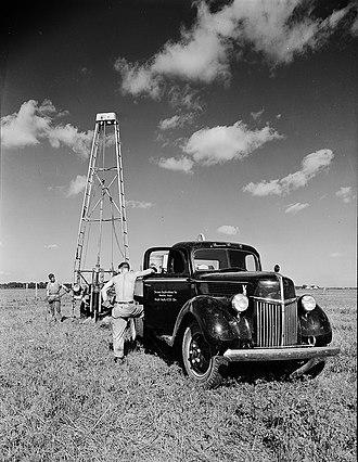 Reflection seismology - Seismic testing in 1940