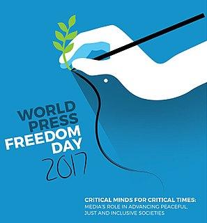 World Press Freedom Day International day to raise awareness for press freedom