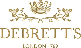 Debrett's - Image: Wreath lockup gold rgb