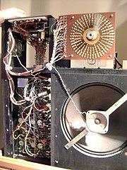 Wurlitzer Sideman drum machine (inside)