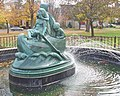 Wynken Blynken and Nod fountain in Wellsboro PA dedicated 1938 donated by Fred W. Bailey of Denver CO for his late wife Elizabeth.jpg
