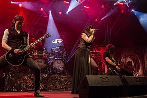 Xandria performing at Wave-Gotik-Treffen in Leipzig
