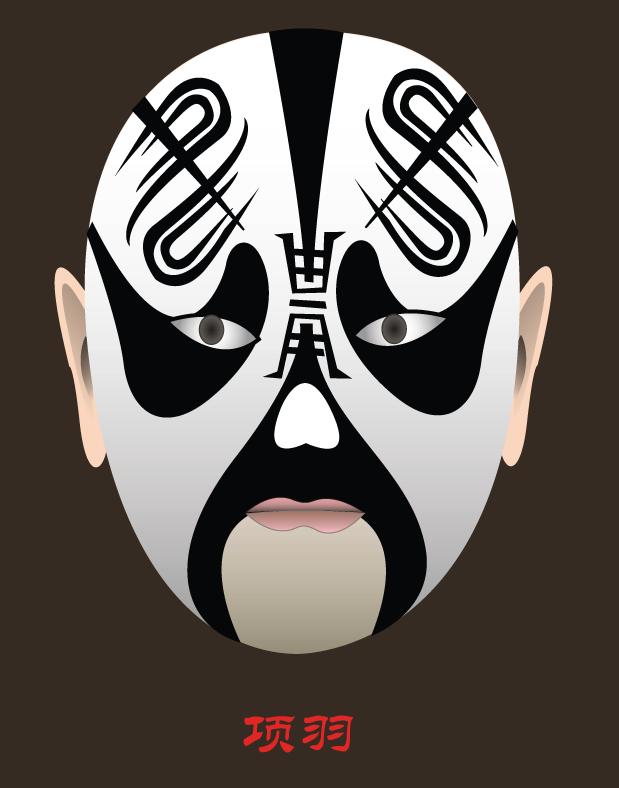 Xiang-Yu-Opera-Mask