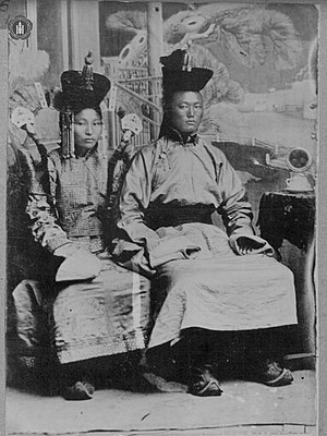 Damdin Sükhbaatar - Sükhbaatar (right) with his wife Yanjmaa