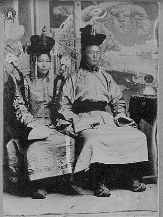 Damdin Sükhbaatar - Sükhbaatar (right) with his wife Yanjmaa