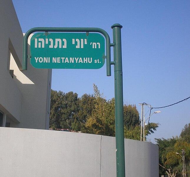 File:Yoni Netanyahu st, Ramat Hasharon.JPG