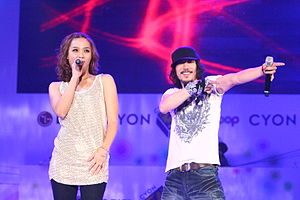 Korean hip hop - Yoon Mi-rae and Tiger JK performing at LG Electronics' CYON B-Boy Championship 2010 finals