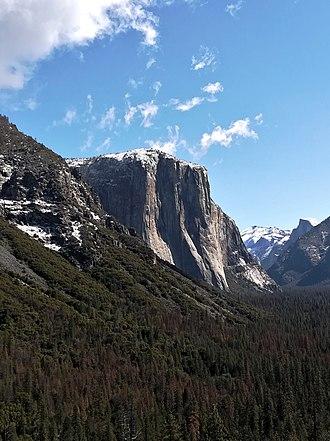 El Capitan - El Capitan viewed from Tunnel View.