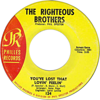 Обложка сингла «You've Lost That Lovin' Feelin'» (The Righteous Brothers, 1964)